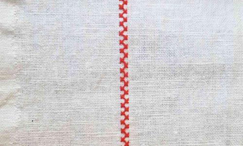Wystawa Pogorzeni i Sasiedzi, haft na koszuli