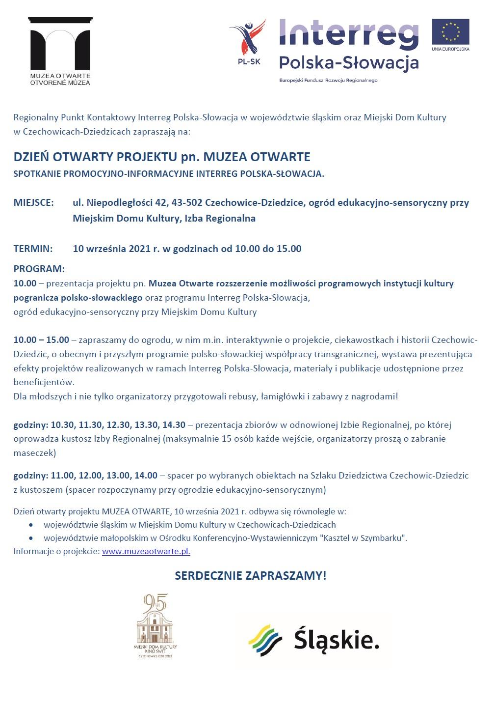 Muzea Otwarte Zaproszenie Czechowice Dziedzice Dzień Otwarty